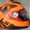 FF352 Rookie - Fan Matt Orange fullface hjelm