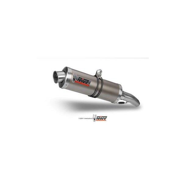 MIVV BOLT-ON 2 OVAL TITANIUM Mivv Sportsudstødning til Suzuki TL 1000 R 1998 > 2002