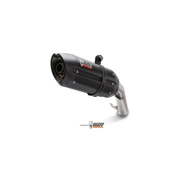 MIVV SLIP-ON 2 SUONO STEEL BLACK Mivv Sportsudstødning til Kawasaki Z 1000 2003 > 2006