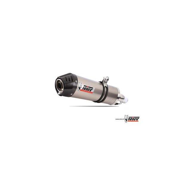 MIVV SLIP-ON OVAL TITANIUM / CARBON ENDE Mivv Sportsudstødning til Honda CBR 600 F 2001 > 2010
