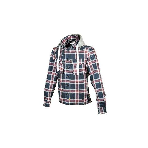 HUNT hoodie Blå/Rød/hvid