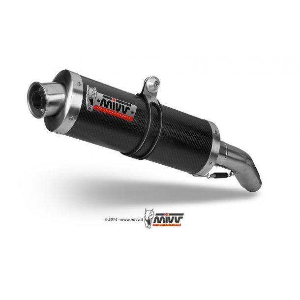 MIVV BOLT-ON OVAL CARBON Mivv Sportsudstødning til Suzuki GSX-R 1000 2001 > 2002