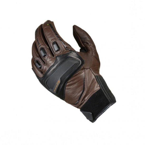 Macna Outlaw handske. Anilin gedeskind, kno- og fingerbeskyttelse.