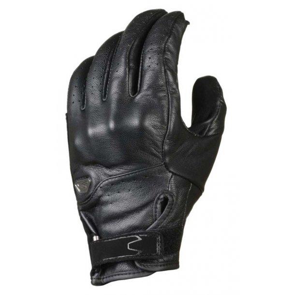 Macna Saber kort læder handske med beskyttelse og ventilation